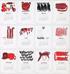 グリーティングライフ カレンダー 壁掛け 2017 ミロコマチコ C-840-MR 日曜始まり Calendar 2019 Design, Calendar Layout, Art Calendar, Desk Calendars, Design Graphique, Art Graphique, Kalender Design, Creative Calendar, Creation Art