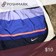Patterned Nike shorts Barely worn and in great shape. Initials are written on the inside but not noticeable when worn. Nike Shorts
