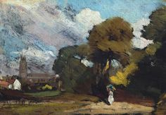 John Constable Stoke-by-Nayland oil on canvas 18 x cm Tate, UK Happy Birthday John, English Romantic, Tate Gallery, Tate Britain, Art Terms, Art Institute Of Chicago, Art Uk, Art Museum, Landscape Paintings