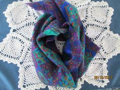 Vintage MultiColored Scarf by BitofHope on Etsy, $18.00