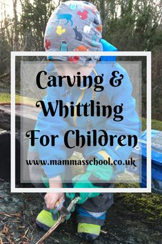 Carving & Whittling For Children - Benefits & Tips – Mamma's School Outdoor Crafts, Outdoor Play, School Tool, School Stuff, Forest Crafts, Whittling Wood, Things To Do At Home, Natural Curiosities, Forest School