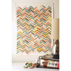 "Herringbone Tea Towel  by Avril Loreti. Linen and cotton with brilliant colors. 16""W x 22""H"