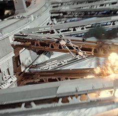 Rogue one battle of Scariff, X-Wings straff the Imperial Shield Wall Harbor Gate. Star Wars Clone Wars, Star Wars Art, Star Wars Light, Star Wars Vehicles, Millenium Falcon, Star Wars Ships, Star Wars Collection, Little Star, Battleship