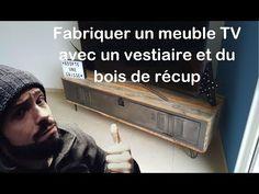 Comment fabriquer un meuble TV avec vestiaire et bois de récup by Adopteunecaisse - YouTube