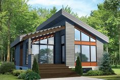 Contemporary Style House Plan - 1 Beds 1 Baths 815 Sq/Ft Plan #25-4578 Exterior - Front Elevation - Houseplans.com