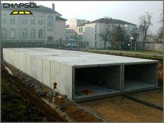 Stockage de l'eau de pluie pour les #collectivités. ECOBASSIN® par Chapsol : http://www.chapsol.fr/stockage-d-eau.html