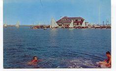 Stone Harbor Yacht Club - STONE HARBOR NJ - c.1960 Chrome