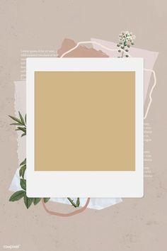 premium image of Blank collage photo frame template on beige Polaroid Frame Png, Polaroid Picture Frame, Polaroid Template, Polaroid Pictures, Collage Foto, Wall Collage, Photo Collage Template, Picture Templates, Box Templates