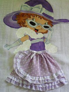 pintura em tecido bonecas com vestido de tecido - Pesquisa Google