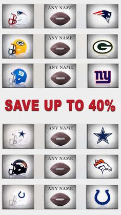 Add style to your Man Cave or Big Fan - Personalized your Favorite Football Team - SAVE UP TO 40%