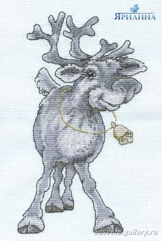 Cross-stitch Reindeer, part Gallery. Xmas Cross Stitch, Cross Stitch Needles, Cross Stitch Baby, Cross Stitch Animals, Cross Stitch Charts, Cross Stitch Designs, Cross Stitching, Cross Stitch Embroidery, Cross Stitch Patterns