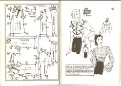 Lutterloh 1939 Book Of Cards -  Models Diagram Card Page 44 & 45