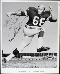 1960s - 70s Ray Nitschke Green Bay Packers Vintage Signed Photo