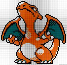 Charizard - Pokemon perler bead pattern
