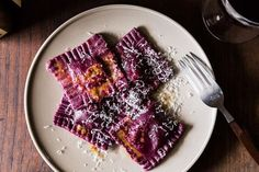 Beet Ravioli with Goat Cheese, Ricotta and Mint Filling , a recipe on Food52