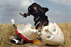 TIM WALKER - STORY TELLER - Karlie Kloss and broken Humpty Dumpty, Rye, 2010