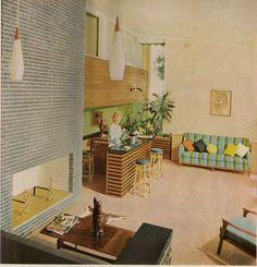 Modern interior decor, Melbourne, 1963