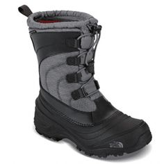 The North Face Kids' Alpenglow IV Lace Waterproof Winter Boots, Gray North Face Kids, The North Face, Boys Snow Boots, Boys Winter Boots, Insulated Boots, Waterproof Winter Boots, Toddler Boots, Cool Boots, Little Boys