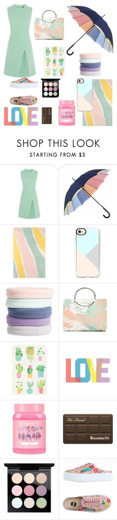 """Pastel Paradise"" by chloelemaster ❤ liked on Polyvore featuring Novogratz Collection, Casetify, L. Erickson, Future Glory Co., Native State, Lime Crime, Too Faced Cosmetics, MAC Cosmetics and RAS"