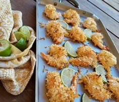 Great tasting, & SIMPLE to prepare! {Perfect for Summer entertaining} Serves 4-5  Ingredients: 20 large Shrimp, peeled & deveined 1 cup unsweetend organic coconut flakes 1/4 tsp cayenne pepper 1/4 tsp