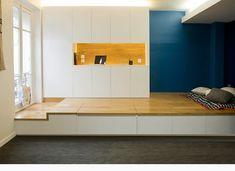 Rozkládací pódium pro malý byt