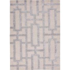 Hand-tufted Modern Geometric Wool/ Silk Rug (5 x 8)