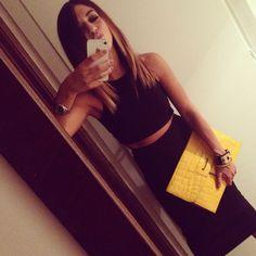 #dress #girl #brunette #bag #fashion #blogger