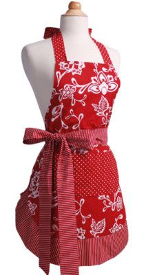 Flirty Aprons Women's Apron Sassy Red WO-10016 on eBay!