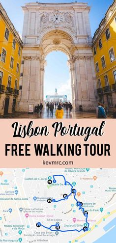 Lisbon Free Walking Tours - The Definitive Guide [+ Free Maps] - Portugal travel. Walking tours are the best way to explore Lisbon, but the question is: How to find - Europe Travel Tips, Travel Guides, Travel Destinations, European Travel, Travel Goals, Portugal Destinations, Travel Diys, Travel Flights, Travel Info
