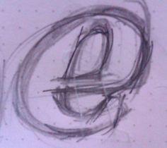 Sketchwork for custom logo