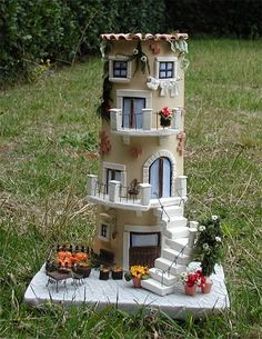1 million+ Stunning Free Images to Use Anywhere Clay Houses, Ceramic Houses, Miniature Houses, Miniature Dolls, Clay Fairy House, Gnome House, Fairy Houses, Tile Crafts, Clay Crafts