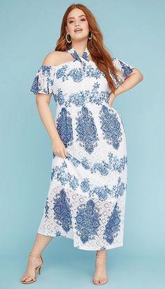 57dfff4ed991 Lace Halter Neck Maxi Dress