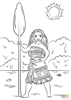 princess moana super coloring disney coloring pagesprintable coloring pageskids - Printable Coloring Pages For Children