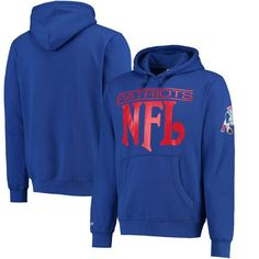 New England Patriots Mitchell & Ness Passing Yards Pullover Hoodie - Navy