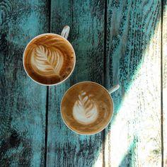 Photo by Tanita E - outdoors, sunlight, art, cappuccino #coffee
