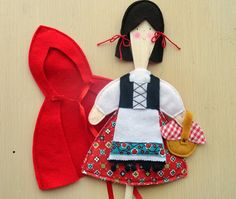 Little Red Riding Hood Wooden Spoon Puppets .PDF by LindyJDesign