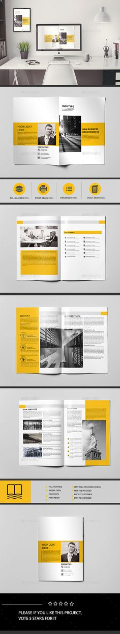 Corporate Brochure Template 8 Page  — InDesign Template • Only available here ➝…