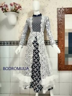 Modest Fashion Hijab, Muslim Fashion, Fashion Dresses, Pakistani Dress Design, Pakistani Dresses, Dress Batik Kombinasi, Dress Brokat, Batik Fashion, Sleeves Designs For Dresses