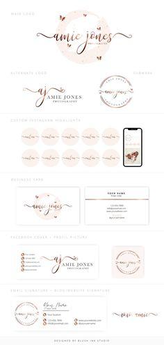 Butterfly Logo, Pink Butterfly, Pink Logo, Rainbow Logo, Boutique Logo, Elegant Logo, Branding Kit, Beauty Logo, Instagram Story Template