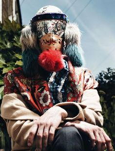 TOHUNGA Mask for VOGUE Hommes International AW13. Stylist - Panos Yiapanis, Photographer - Willy Vanderperre