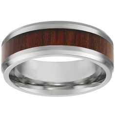 Metro Jewelry Stainless Steel Ring Light Wood