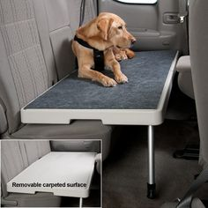 PetDek makes your backseat safer for pet travel by providing a level surface on which your pet can ride comfortably.