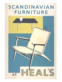 Scandinavian furniture at Heal's