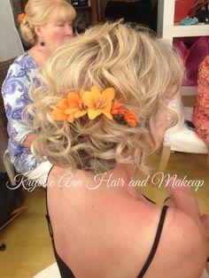 Hair: www.krystieann.com  Wedding hair, bridal hair, wedding updo, bridal updo, mother of the bride hair, bridesmaid hair, blonde updo, punta cana wedding, textured updo, beach wedding hair