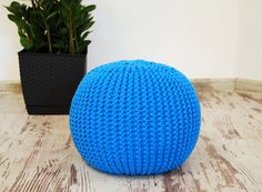 Hey, I found this really awesome Etsy listing at https://www.etsy.com/listing/471967488/knitted-pouf-turquoise-seat-crochet-pouf