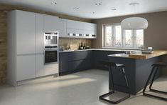 wohnideen küche moderne küche in u form mit schönem farbkontrast