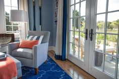 HGTV® Dream Home 2015 Guest Bedroom | French doors flood the guest bedroom with natural light and provide easy access to the outdoor patio.