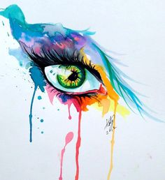 'Eye' Painting by Katy Lipscomb.