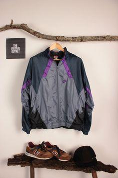 nike air max plus 2010 - Nike Windbreaker Jacket 80s Nylon Shell Jacket Navy Blue Green ...