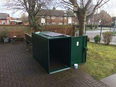 Customer shared image of the bike locker  #shed #metalshed #secureshed #storage #bike